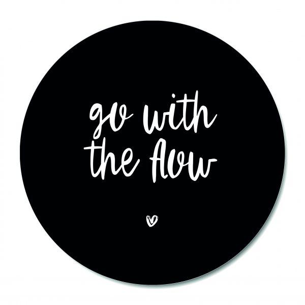Muurcirkel - Go with the flow