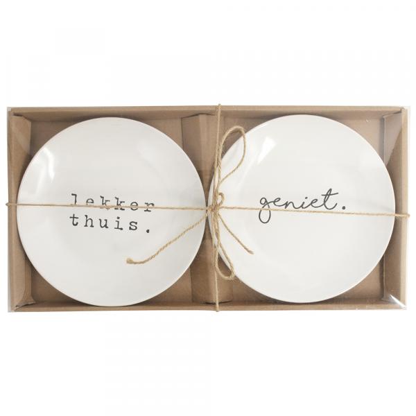 Gusta - Set van 2 borden
