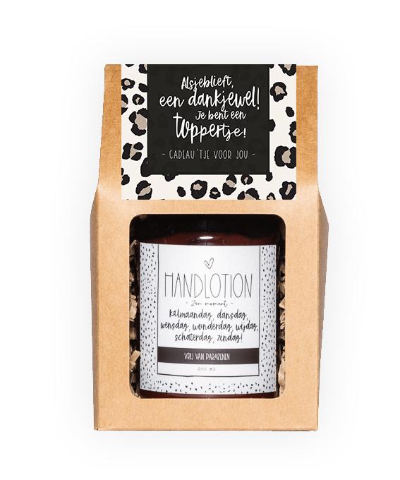 Handlotion giftbox - Dankjewel toppertje