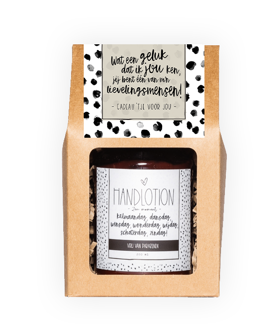 Handlotion giftbox - Lievelingsmens