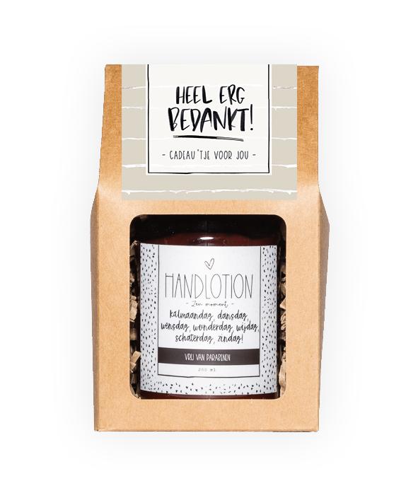 Handlotion giftbox - Bedankt