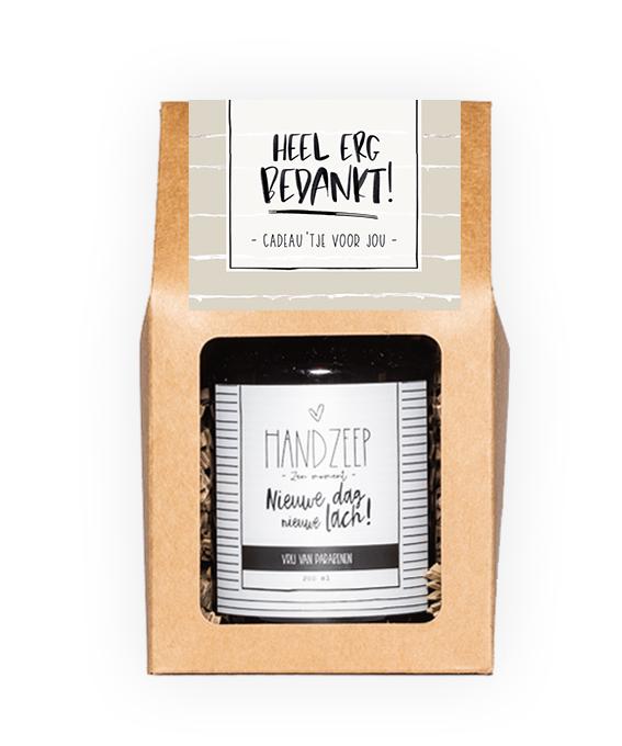 Handzeep giftbox - Bedankt