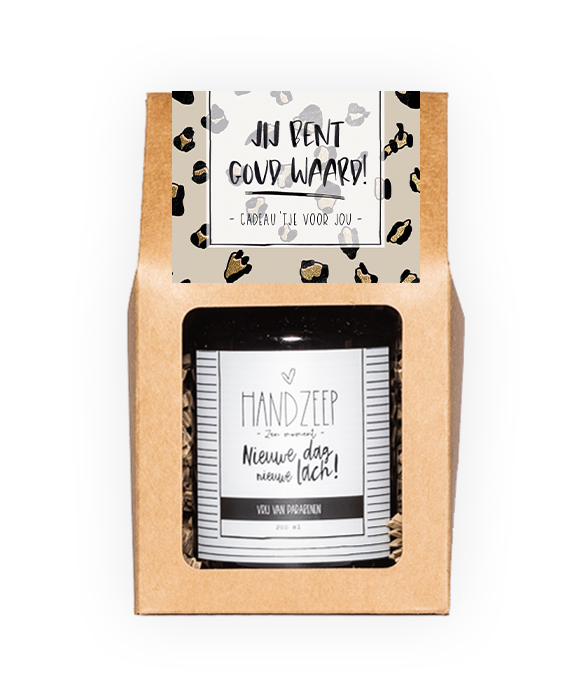 Handzeep giftbox - Goud waard