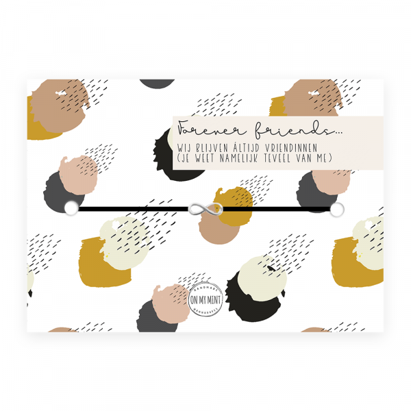Kaart met sieraad - leven - forever friends