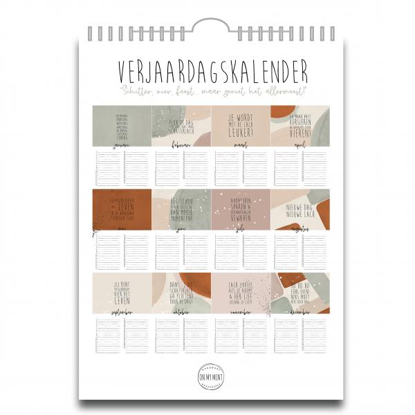 Kalender Pastel Achterkant
