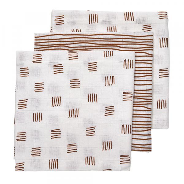 Meyco luierdoekjes block-stripe camel