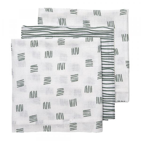 Meyco luierdoekjes block-stripe green