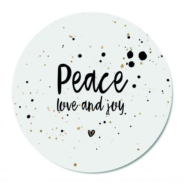 Muurcirkel - Peace, love, joy