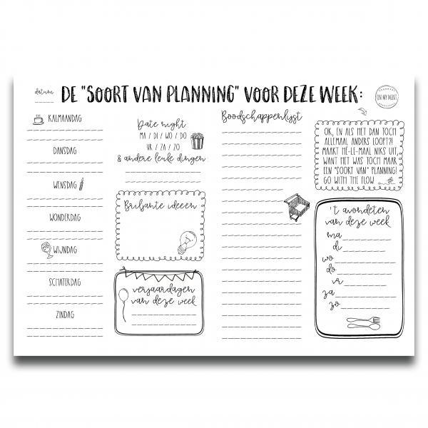 Planner A4 Soort van planner