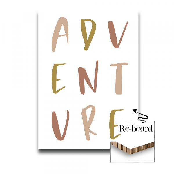 Print op reboard - Adventure pink