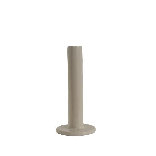 Tube kandelaar 15,5cm grey/taupe