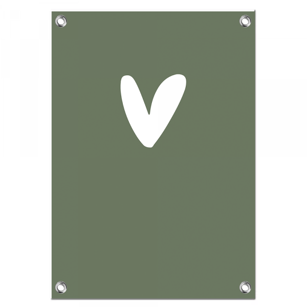 Tuinposter - Hart BG Green
