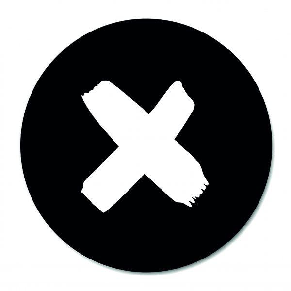 Muurcirkel - X Black BG