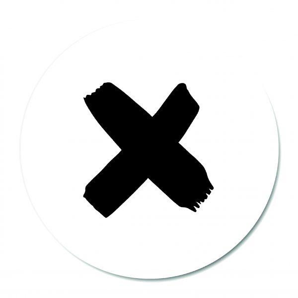 Muurcirkel - X White BG