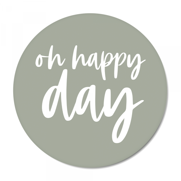 Cirkel Oh happy day mint