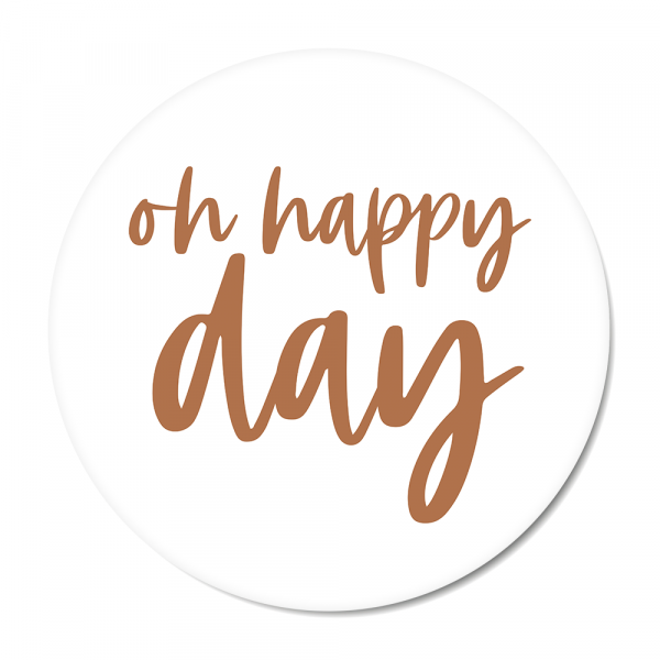 Cirkel Oh happy day roest
