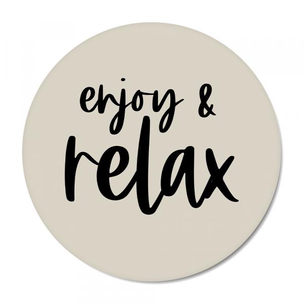 Cirkel enjoy & relax grijs