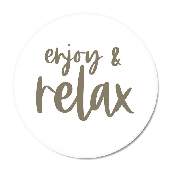 Cirkel enjoy & relax olijf