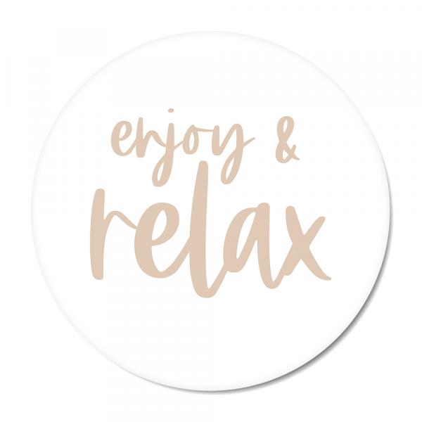 Cirkel enjoy & relax roze