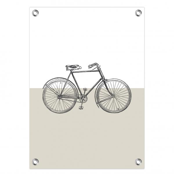 Tuinposter Vintage bike grijs