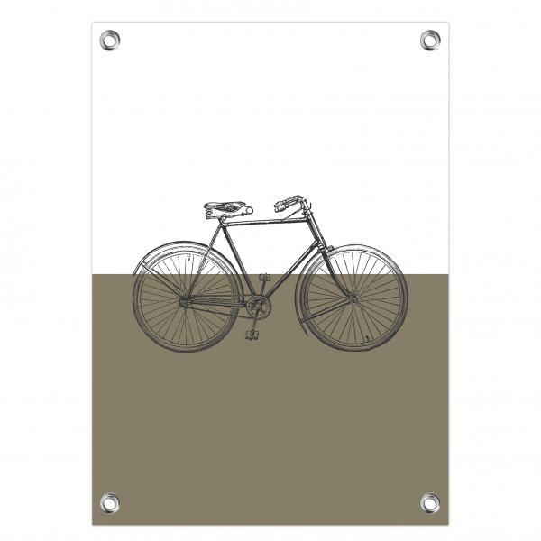 Tuinposter Vintage bike olijf