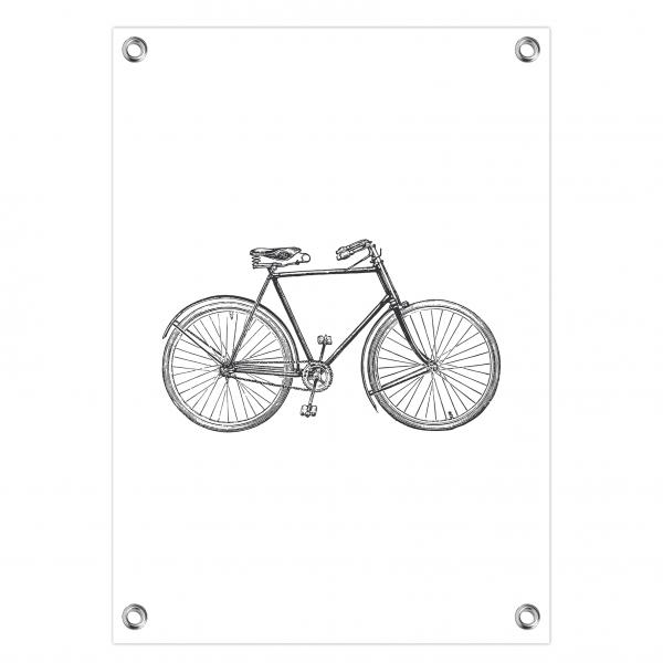 Tuinposter Vintage bike wit