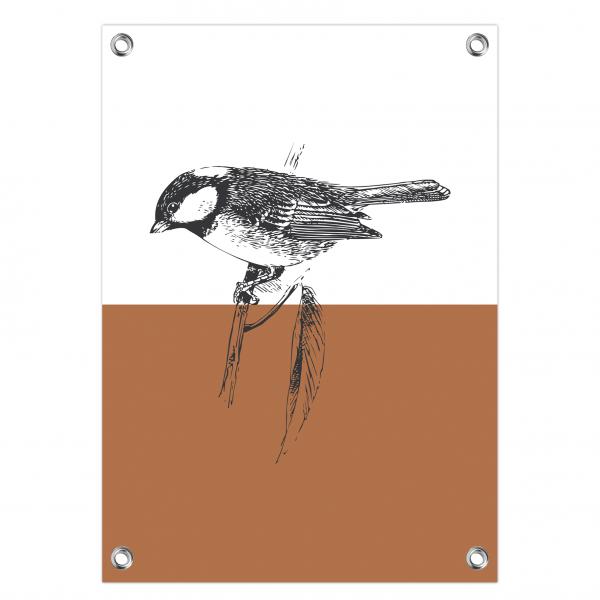 Tuinposter Vintage bird roest