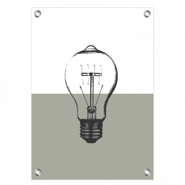 Tuinposter Vintage bulb mint