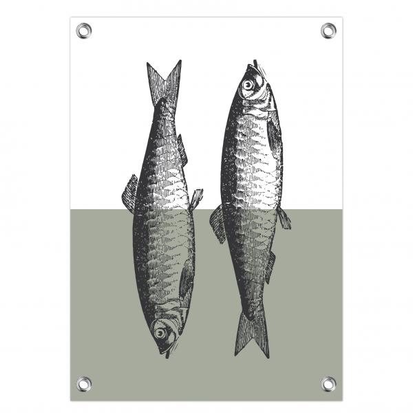 Tuinposter Vintage fish mint