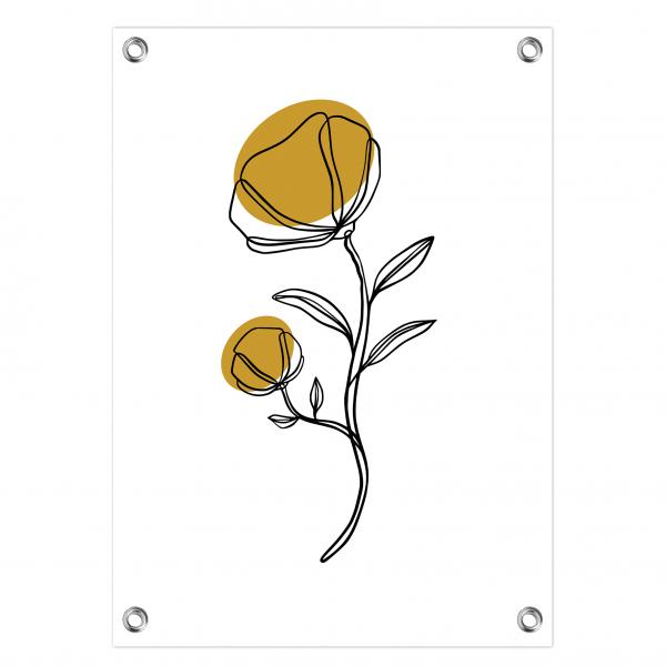 Tuinposter Flower oker