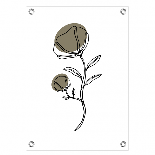 Tuinposter Flower olijf