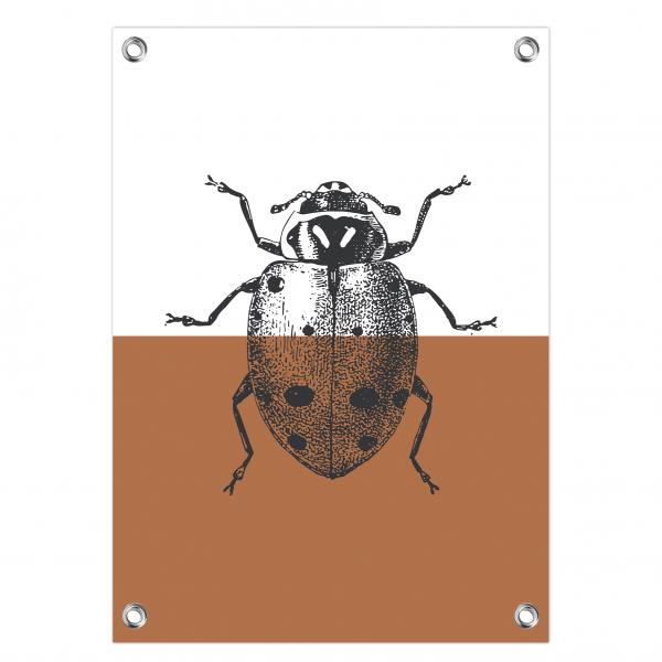 Tuinposter Vintage ladybug roest