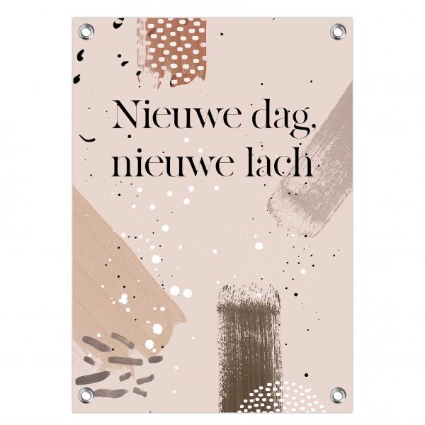 Tuinposter Nieuwe dag - brushes