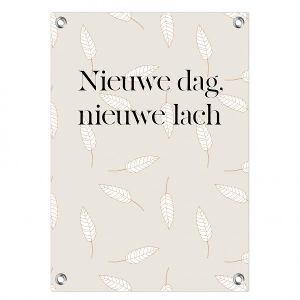 Tuinposter Nieuwe dag - leaves