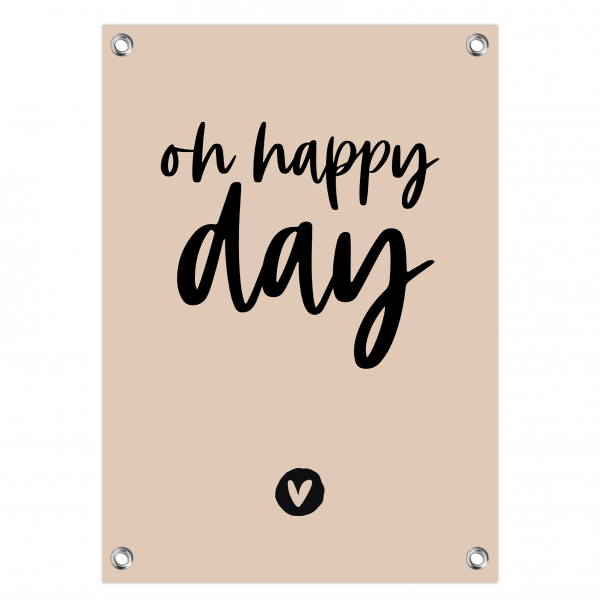 Tuinposter oh happy day roze