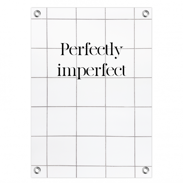 Tuinposter Perfectly imperfect - tiles