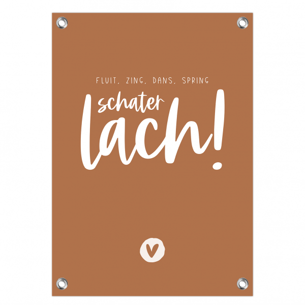 Tuinposter Schaterlach roest