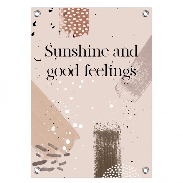 Tuinposter Sunshine feelings - brushes