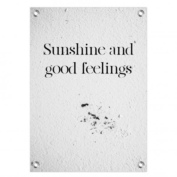 Tuinposter Sunshine feelings - concrete