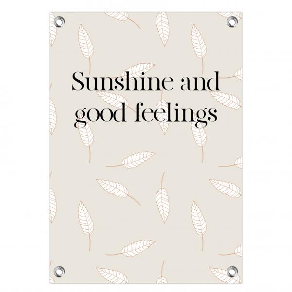 Tuinposter Sunshine feelings - leaves