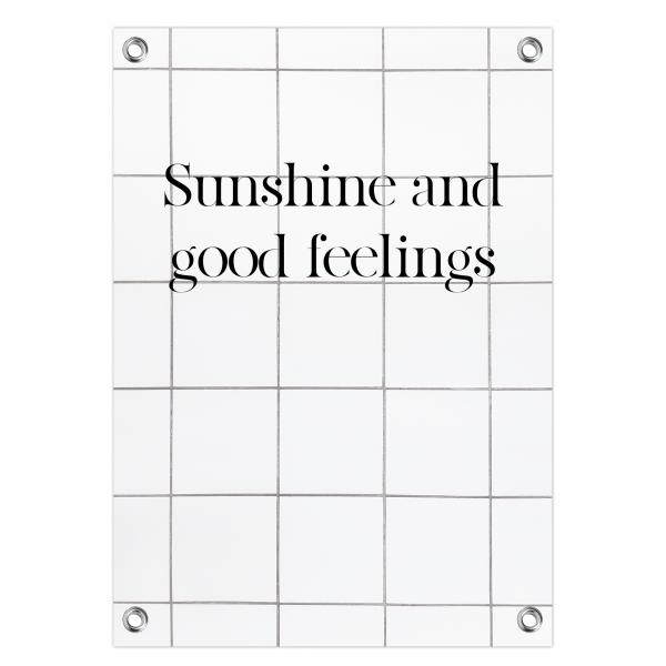 Tuinposter Sunshine feelings - tiles