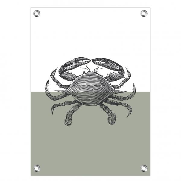 Tuinposter Vintage crab mint