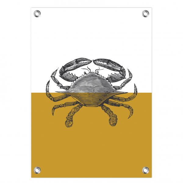Tuinposter Vintage crab oker