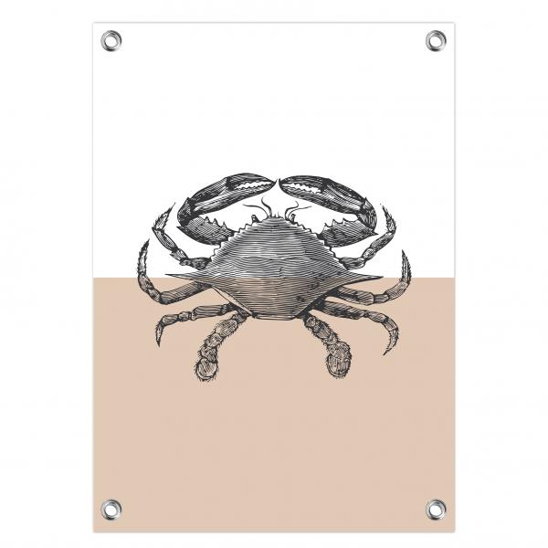 Tuinposter Vintage crab roze