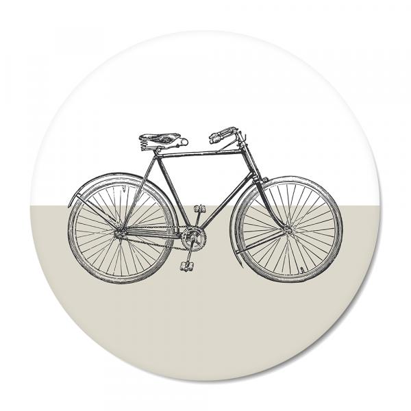 Cirkel Vintage - bike - grijs