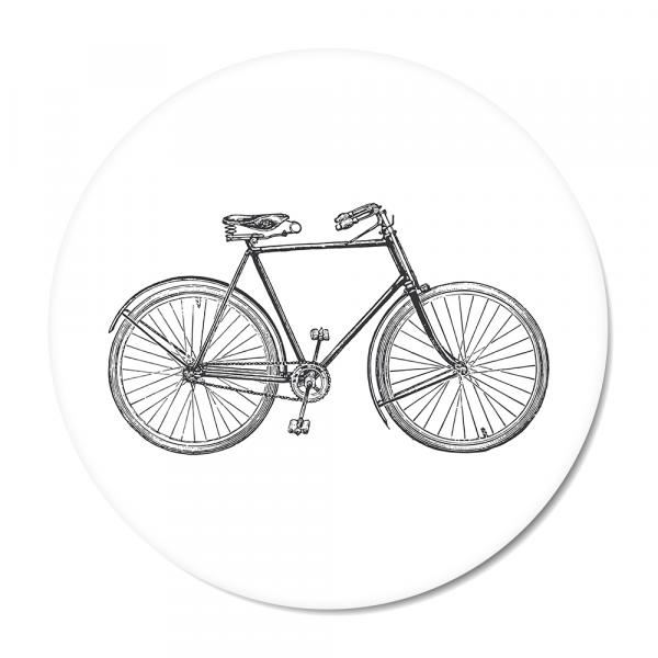 Cirkel Vintage - bike - wit
