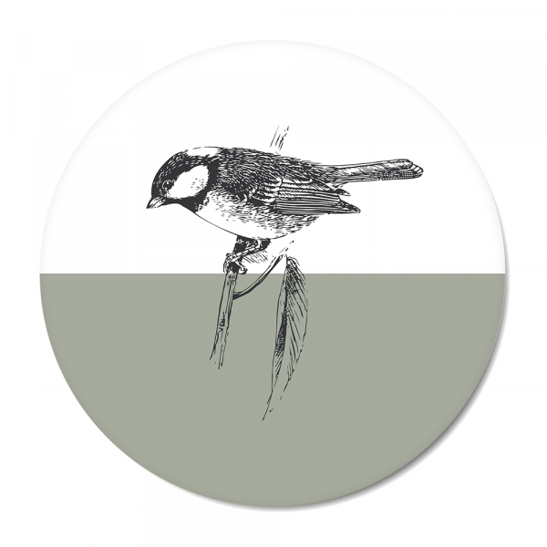 Cirkel - Vintage - bird - mint