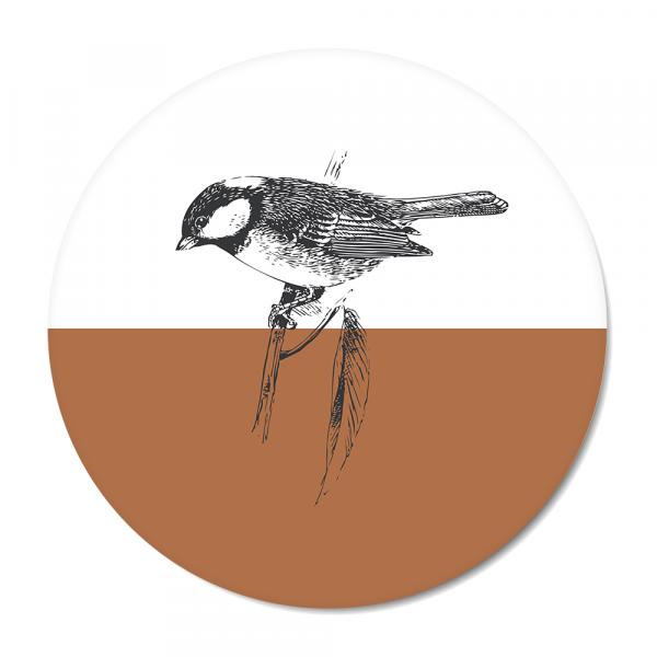 Cirkel - Vintage - bird - roest