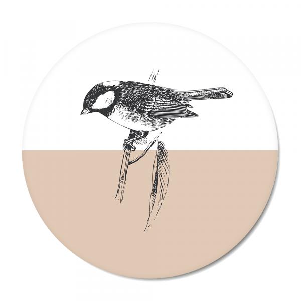 Cirkel - Vintage - bird - roze