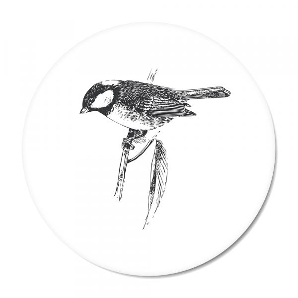 Cirkel - Vintage - bird - wit